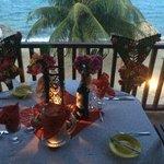 Romantic dinner set up