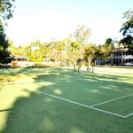 tennis courts and grounds