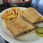 Tasty French dip sandwich