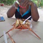 Lobster on Booby Cay