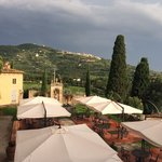 View of Cortona from the restaurant