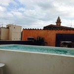 night cool rooftop pool