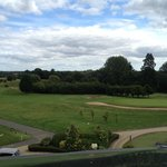View from one of the windows overlooking the golf course.