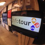 Led touch screen & free WiFi spot for tourists