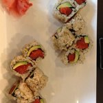 Salmon and avocado rolls with brown rice