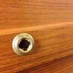 Broken handle on kitchen cupboard