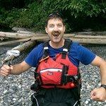 Guide Rick having fun with the multi purpose kelp!
