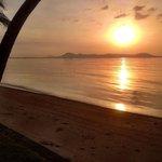 Sunrise from beachfront room