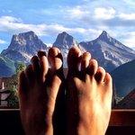 A mountain view at #stoneridgemountainresort