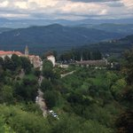 Istria mountains's view from the wall