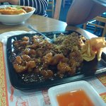 Combination Plate (Sesame Chicken and Chicken Fried Rice)