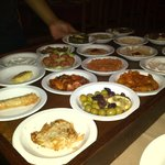 Starter mezze plates to choose from