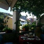 utsikt fra frokost terrassen