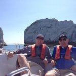 Lunch at The Needles - beats working!