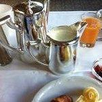 l'argenterie du petit-déj.
