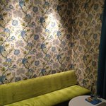 Sitting area and wallpaper of room 416