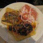 Polentine ai tre sapori: pancetta, porcini, fagioli