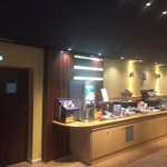 Breakfast buffet, fresh juice dispenser, dairy products also