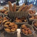 Freshly baked Bread and selection of viennoiseries