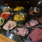 Breakfast selection, Halal and regular cold cuts