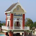 Sandals Swim Up Bar Tower