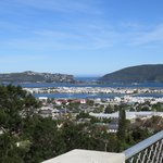 View of Knysna from terrace of the room