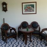 İnside hotel seating area for tea coffee etc