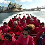 Jet boat ride, Sydney Harbour