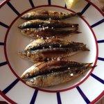 Petite assiette de sardine, cuisson impeccable un régal!