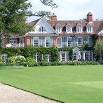 Overlooking the croquet lawn