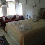 Nosso quarto durante a estada na Capadócia. Conforto e espaço após um dia de turismo.