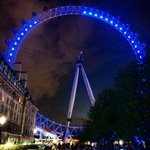 Saying the London Eye is nearby is modest.  It's practically attached!