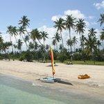 Vue de la plage (côté activité nautique)