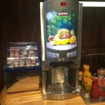 Fresh juice dispenser and yogurt display