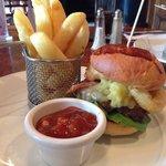 My burger! Small but massive!!