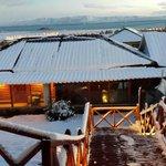 vista desde la terraza con nieve