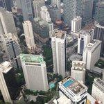 Blick vom Fernsehturm auf das Hotel