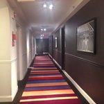 Loved the hallway decor
