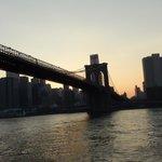 Lo skyline di Manhattan dalla barca