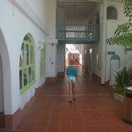 walkway past gift shop, games room, casino, toward buffet