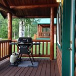 porch with grill