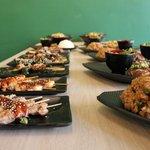 Yakitori and Teppanyaki dishes
