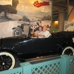 Enjoying the antique car experience
