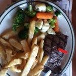 Flat iron steak. Delicious.
