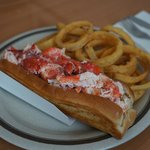 Lobster Roll and Onion Rings