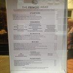 August 2014 menu