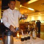 Carlos (Arrecifes) - pouring Mayan Coffee