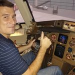 Our client, Bruno, takes the Captain's seat to begin his Adventure.