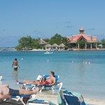 Ilha privativa do hotel
