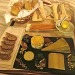 our gorgeous cheese platter from room service